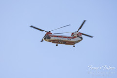 October 13, 2020 - A firefighting helo flies over Thornton. (Tony's Takes)