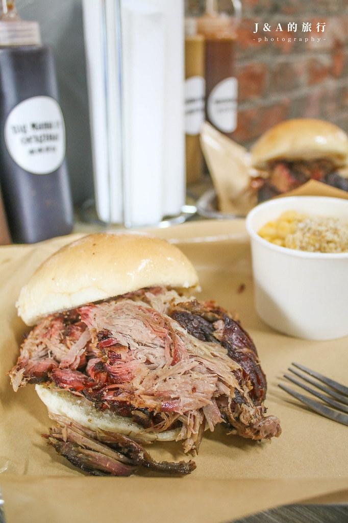 Bogart's Smokehouse 美式木柴烤肉屋。美國老闆掌廚的手撕肉、牛胸肉漢堡和大份量豬肋排,4種醬料隨意搭配 @J&A的旅行