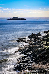 Photo of Inchkeith Island from Kinghorn, Fife