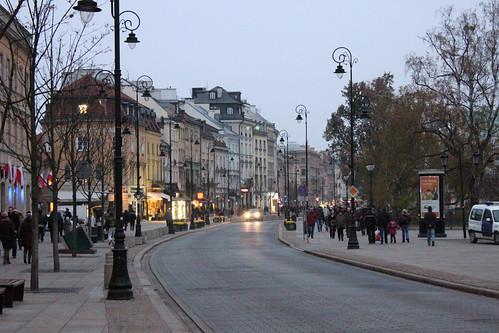 Warsaw Krakowskie Przedmiescie Dusk 2011