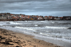 Photo of Rough seas at Dunbar, East Lothian