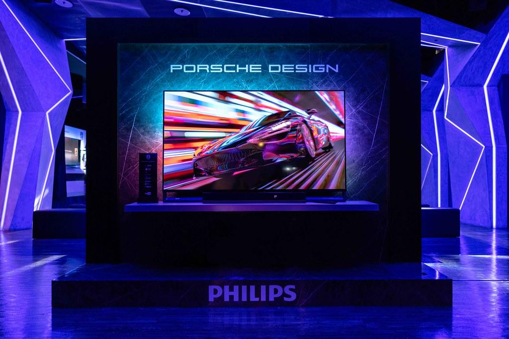 Philips飛利浦70PD9000搭配超跑等級高端工藝設計與智慧科技、搭載飛利浦獨家專利Ambilight情境光視覺科技,開創潮奢家電新視野!
