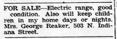 1955 - George Reaker sells range - Enquirer - 6 Oct 1955