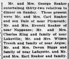 1948 - George Reakers host family - Culver Citizen - 25 Aug 1948
