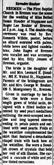 1966 - Roger Reaker marries Susan Stouder 1 - South Bend Tribune - 30 Aug 1966