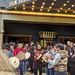 Ute and Nez Perce tribes drum circle in front of the Egyptian Theater