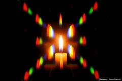 Flamme de Bougie colorée