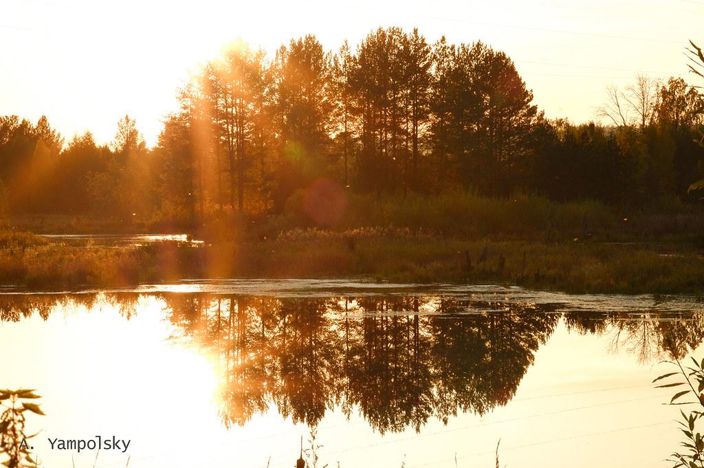 фото: Закат на озере