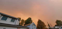 October 16, 2020 - Wildfire smoke obscures the skies over Thornton. (Jennifer McNeil)