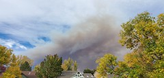 October 17, 2020 - The Cal-Wood Fire explodes in the foothills.  (Jennifer McNeil)