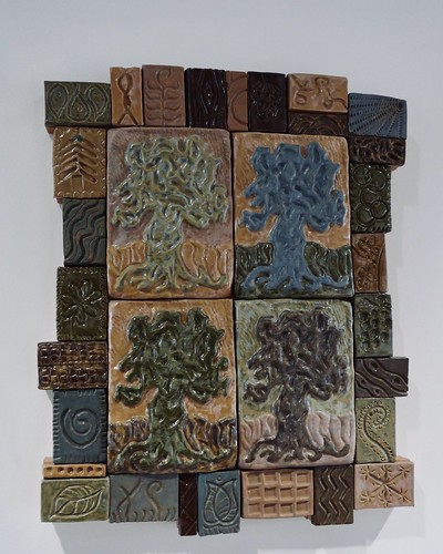 Iconograph of the Four Seasons, Earthenware by Sandra Bruckner, Mammel Hall, UNO Scott campus
