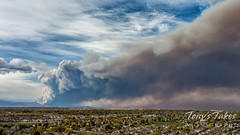 October 17, 2020 - The Cal-Wood Fire as seen from Thornton. (Tony's Takes)