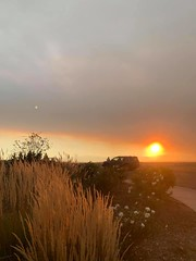 October 16, 2020 - Smoke from wildfires makes for a pretty scene. (Heidi Armstrong Khoury)