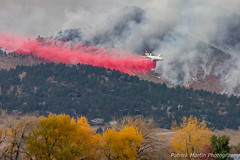 October 17, 2020 - A tanker makes a retardant drop on the Cal-Wood Fire. (Patrick Martin)