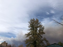 October 17, 2020 - Smoke from the Cal-Wood Fire. (Mary Lindow)