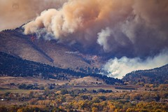 October 17, 2020 - The Cal-Wood fire lights up the foothills. (Jessica Fey)