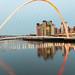 The Millenium Bridge Reflected - Newcastle