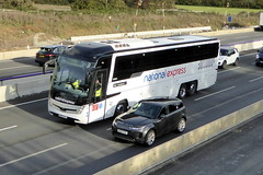 Photo of 2020 Volvo B11RT / Caetano Levante 3 - BV69 KPE - Stotts Coaches / National Express - M1 at Milton Keynes 13Oct20
