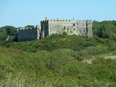 Photo of Manorbier Castle - 12th century stonework_(2)