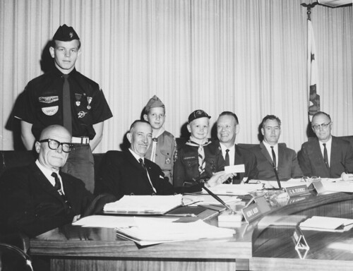 Orange County Board of Supervisors with Boy Scouts, circa 1964