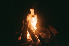 Campfire at Camp Cliff Vista.