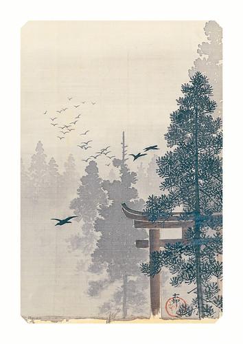 21-Affiche // A3 // Torii and Birds
