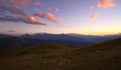 Sunset in Svaneti Mountains, Samegrelo-Zemo Svaneti, Georgia