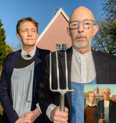 Ashfield Gothic - homage to Grant Woods' American Gothic