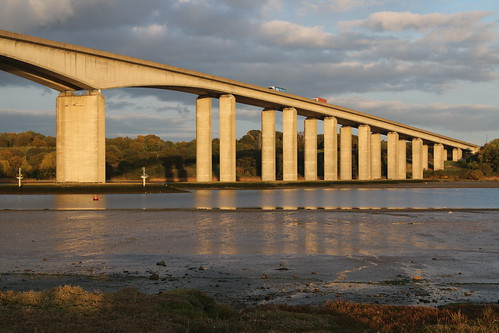 Orwell bridge and refection