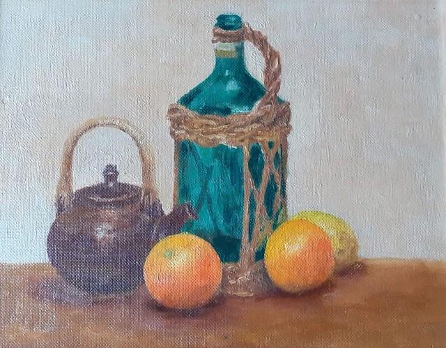 Noreen Ibbott, 'Still life with glass bottle'