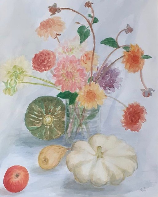 Ibbott Noreen, 'Flowers and Gourds'