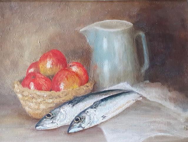 Ibbott Noreen, 'Still life with Fish'
