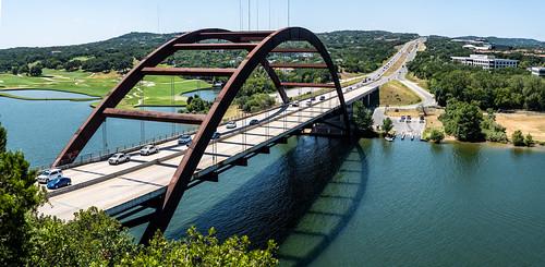 Pennybacker Bridge Panoramic - Austin, Texas