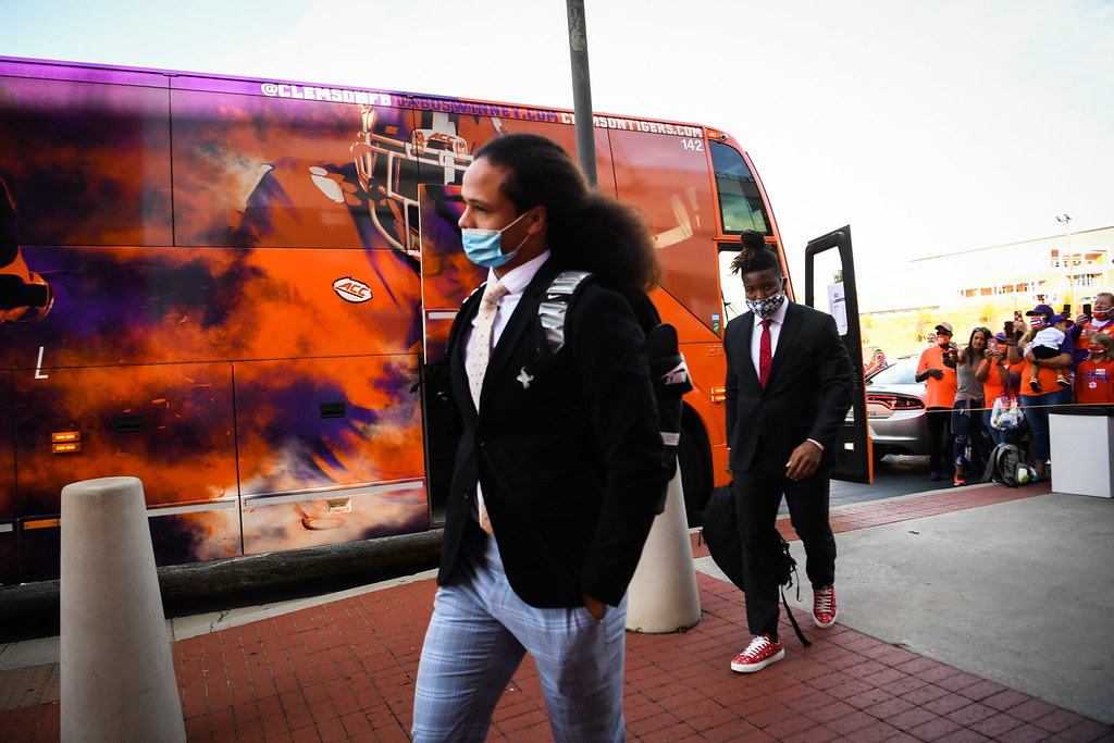 Clemson Photos: Lannden  Zanders, tigerwalk, 2020, Football, Syracuse