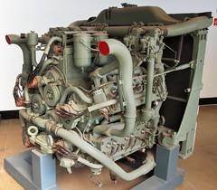 Photo of Chrysler A57 five-bank British Sherman tank engine - Imperial War Museum, Duxford Aerodrome, England