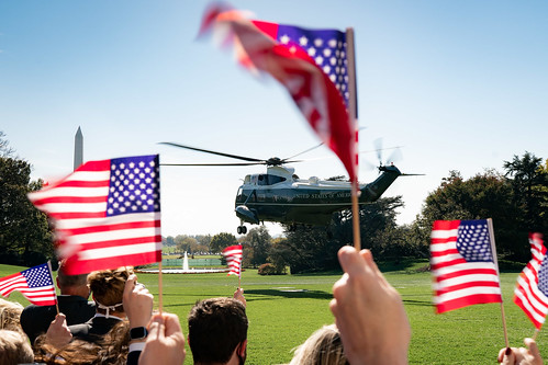 President Trump Departs for Tennessee by The White House, on Flickr