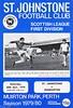 St Johnstone vs Dumbarton - 1979 - Cover Page
