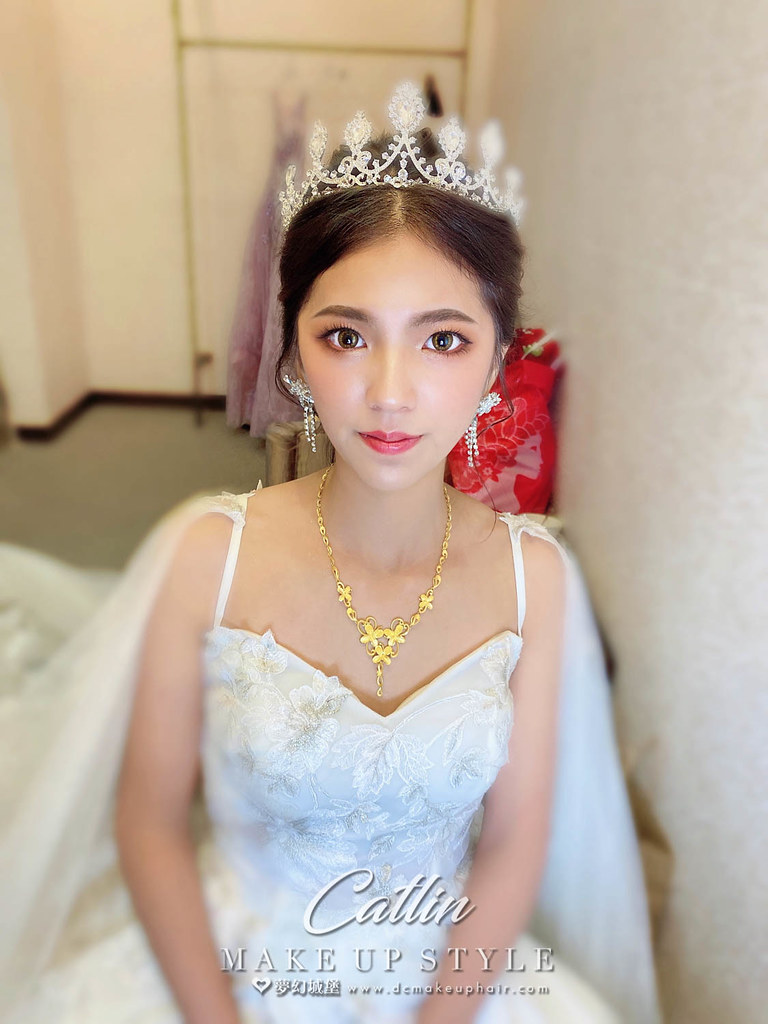 【新秘Catlin 】bride惠庭 結婚造型 / 皇冠造型,氣質風格