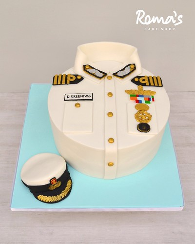 Navy uniform cake