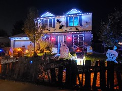 October 24, 2020 - Halloween decorations light up the night. (LE Worley)