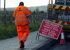 Photo of Hi-vis road worker, Bretton, Chester.