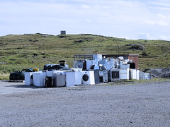 Photo of Washing Machines and Dryers Waiting to be Recycled
