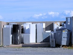 Photo of Refrigerators and Freezers Waiting to be Recycled