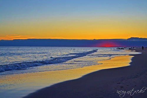 Beautiful Twilight on Coney Island Beach Brooklyn New York City NY P00694 DSC_3207