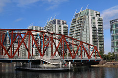 Photo of 28th October 2020. Detroit Bridge and Erie Basin, Salford Quays, Greater Manchester