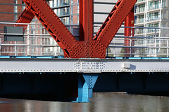 Photo of 28th October 2020. Detroit Bridge, Salford Quays, Greater Manchester