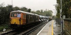 Photo of GBRF 73213 trails 73136 on 3W75 through Aylesford station