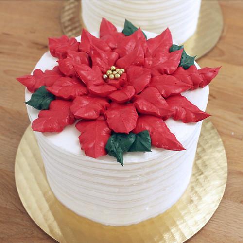 Poinsettia Gourmet Cake copy