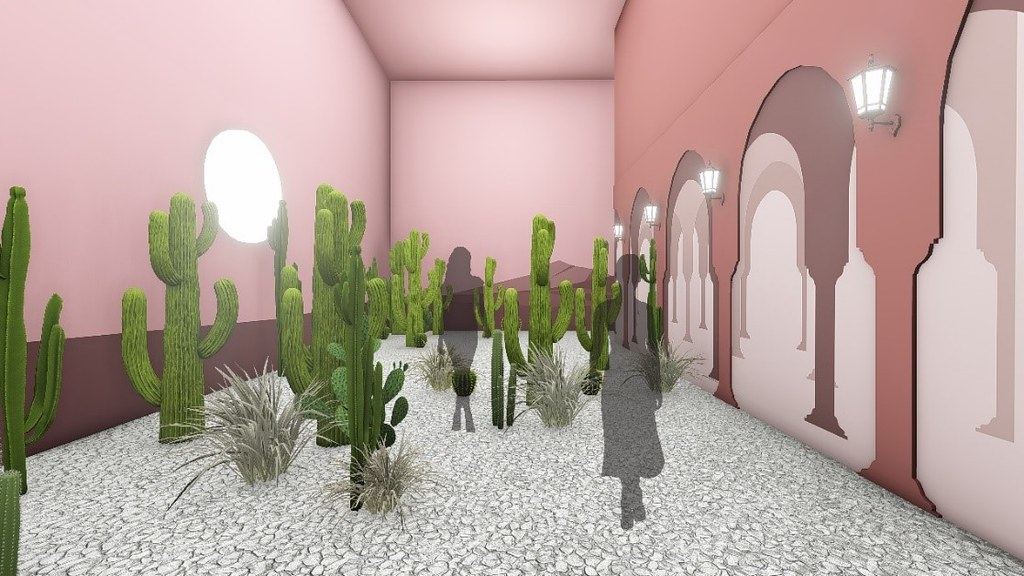 色廊2.0-粉紅沙漠展場示意圖 -聯合數位文創 提供