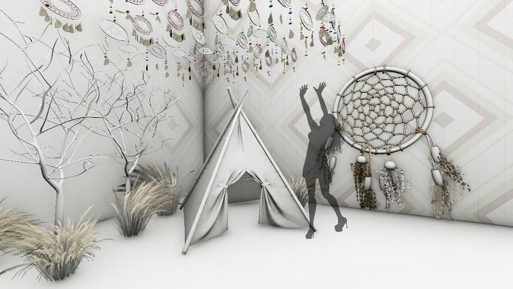 色廊2.0-純白捕夢網展場示意圖 -聯合數位文創 提供